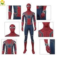 Костюм Мстителей бесконечности войны костюм косплей Человек паук боди супергерой Питер Паркер комбинезон