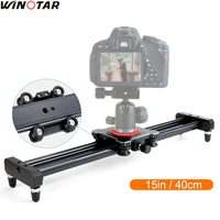 Ulanzi 40cm/15 Mini Aluminum Camera Video Track dolly Slider Rail System for Nikon Canon Sony Fuji Olympus DSLR camera DV Movie
