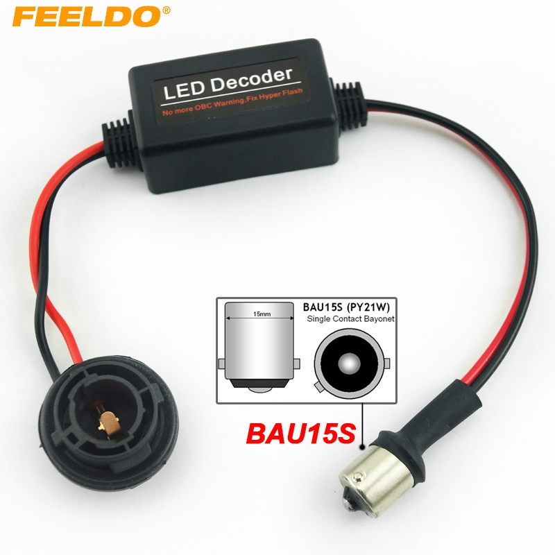 FEELDO 1Pc Car BAU15S No Error Load Resistor No Flickering Decoder for LED Light Into a canbus bulb #AM3927