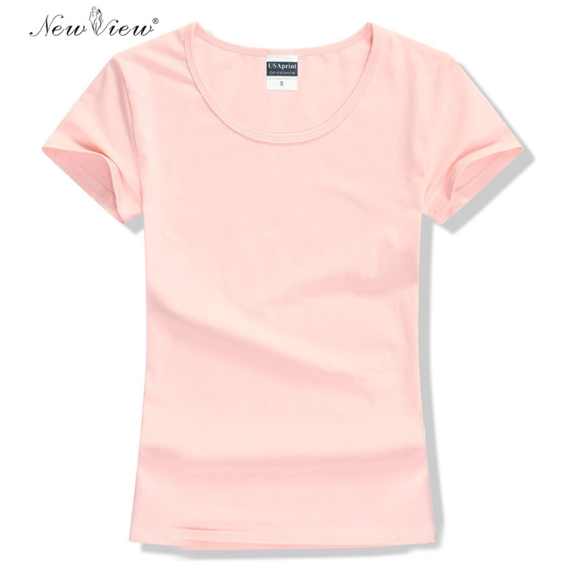 New 2015 Fashion Women T Shirt Brand Tee Tops Short Sleeve Cotton Tops For Women Clothing