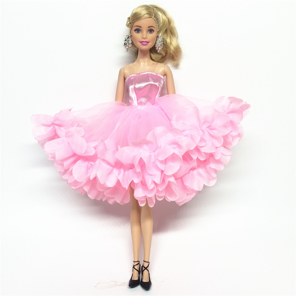 NK 2019 Newest Doll Dress Beautiful Multi-layer Dress Top Fashion Party Outfit For Barbie Doll For 1/6 BJD Dolls Accessories JJ