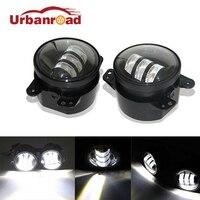 2pcs/Pair 30w led 4 inch White Round fog lights lens Projector 4'' Fog Lamp For Offroad Jeep Wrangler Dodge Chrysler