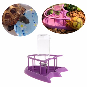 1PC Reptile Tortoise Pet Feeding Drink Bottle Bowl Food Water Dispenser Feeder With Bottles Tray 2-type High Quality C42 1