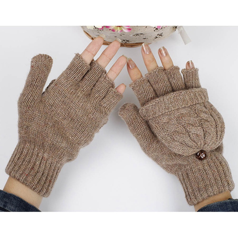 Gloves Women's Winter Mittens Hand Warmer Wool Knitted Glove For Women Thermal Warm Thicken Fitness Gloves