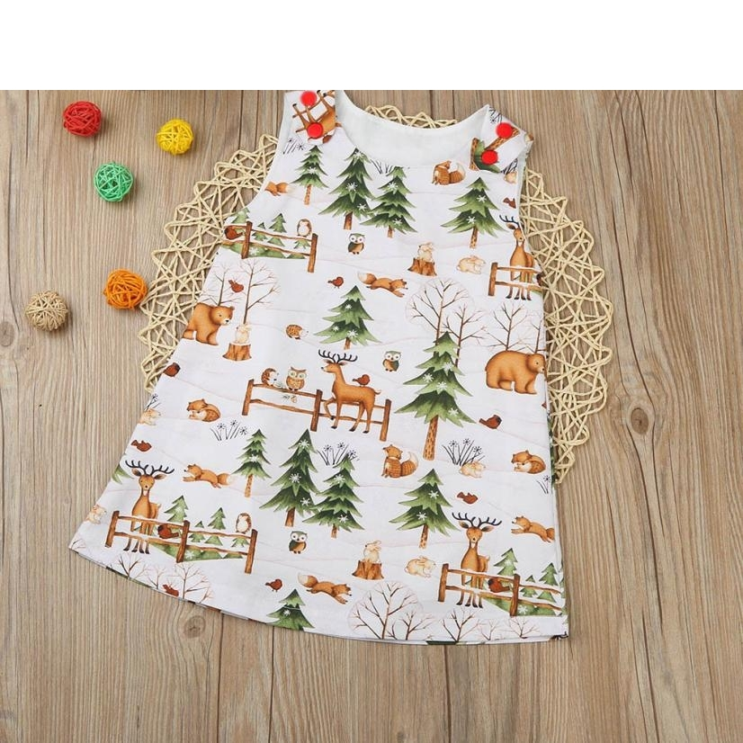 ARLONEET Fashion Cute Toddler Baby Infant Girls Woodlands Cartoon Princess Dress Outfits Clothes Kids Vestido Infantil H30 summer baby dress voile floral wedding dresses for girls toddler infant girl vestido infantil girls costume cute dress clothes