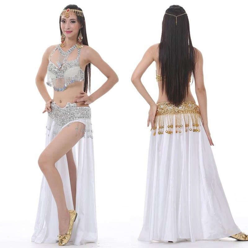 YiiJee Femme Danse du Ventre de Performance Set Belly Dance Tops Jupe