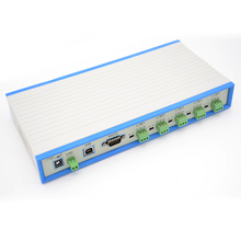 цена на 7-port RS485 hub 5 RS485 ports One RS232 port and one USB port Designed for RS485 star wiring Opto-isolated