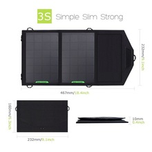 8W 5V 1.5A Outdoor folding Solar Panel USB Output Portable Foldable Power Bank waterproof travel Solar Charger phone battery