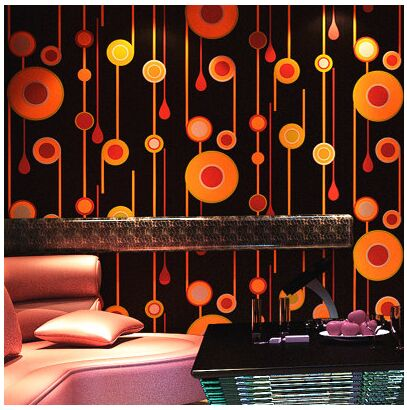 KTV Wallpaper 3d Personality Fashion Flash Pattern Wall Cloth Bar Hotel Fancy Ballroom Box Theme Room In Wallpapers From Home Improvement On