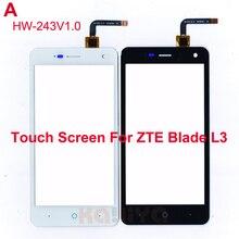 """Новый Черный Белый Сенсорный Экран Для ZTE Blade L3 Стеклянный Объектив Датчик 5.0 """"передняя Сенсорная Панель Замена для версии HW-243 v1.0"""