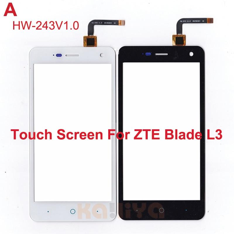 New Black White Touch Screen For ZTE Blade L3 Glass Lens Sensor 5.0