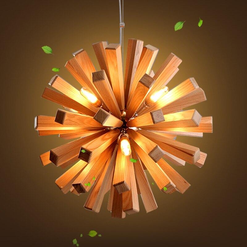 55/см 72 см древесины дуба Edelweiss люстра светильник Nordic скандинавский подвесной Lumiere Suspendu блеск для фойе