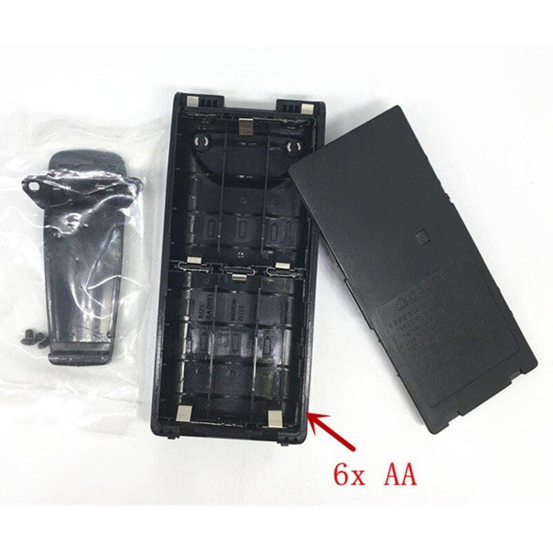 5X Battery Case Box 6x AAfor Icom IC-V8 IC-V82 IC-A24 IC-A6 IC-F3G IC-F30 IC-F40 IC-F11 IC-F22 IC-F4G BP210 BP209 With Belt Clip