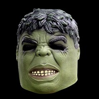Free Shipping Head Green Giant Rubber Latex Mask Cartoon Hulk Mask For Carnival And Party