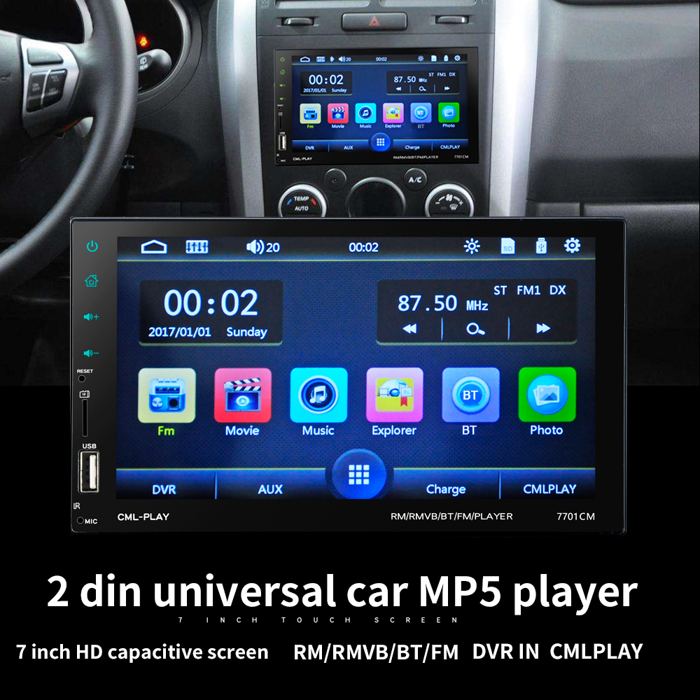 2DIN 7-inch Touch Screen Auto MP5 Player Car Radio Audio Stereo FM RDS BT Remote Control/USB/FM/RDS/BT/Microphon/Camera for bmw new 7 inch 2din bluetooth car radio video mp5 player auto radio fm 18 channel hd 1080p in dash remote control rear view camera