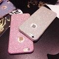 Потрясающий Новый Роскошный Блеск Bling Крышка Ультра Тонкий Чехол Для iPhone 5 5 6 6 s 6 Плюс Кристалл ТПУ Мягкий Чехол Для Телефона С Логотипом отверстие