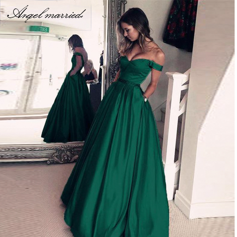 elegant evening dress long Women's Real Photos Blush Colored Satin A Line Prom Dress Sexy cap sleeve formal dress Vestido-in Evening Dresses from Weddings & Events    2