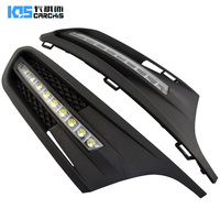 free shipping, for 2012 Volkswagen VW Jetta Sagitar LED DRL Daytime Running Light with projector lens, without fog lamp hole