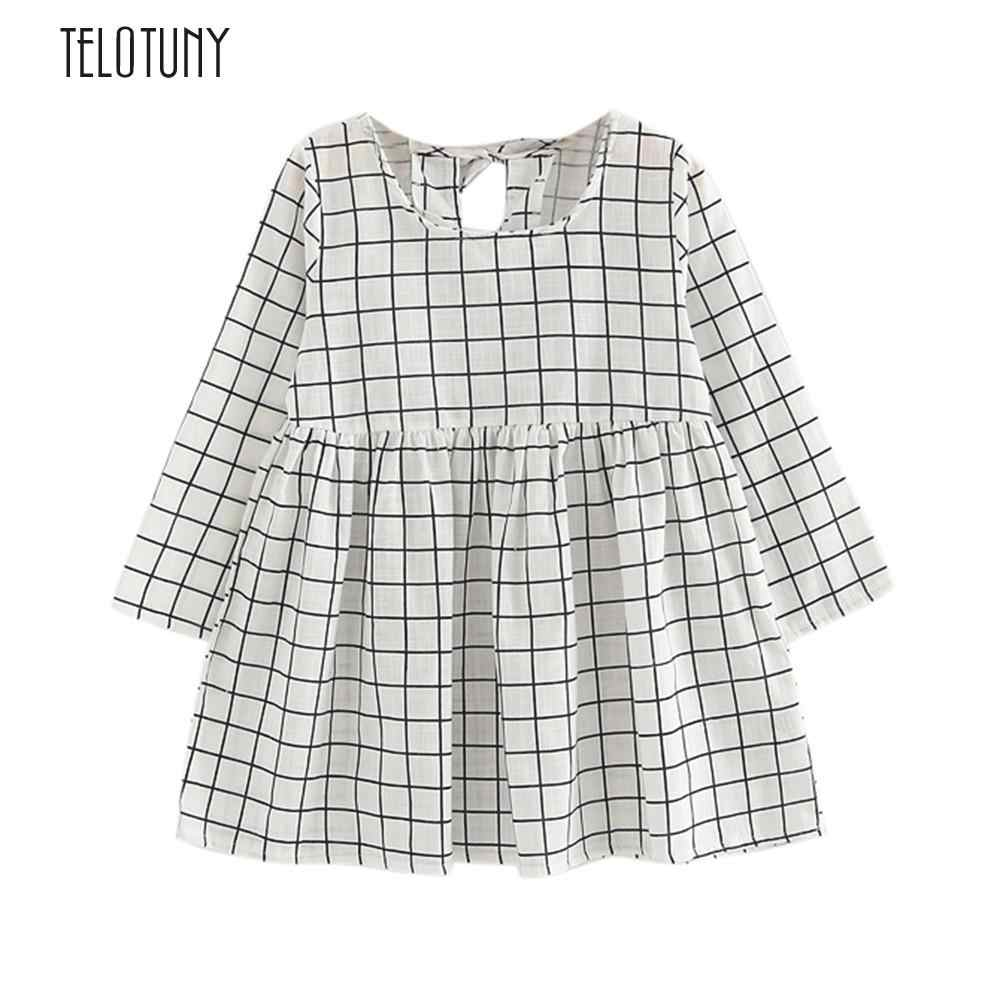 TELOTUNY Toddler Baby Girls Kids Autumn Clothes Long Sleeve Princess Party Pageant Dress Cute Cotton Blended S3MAR14