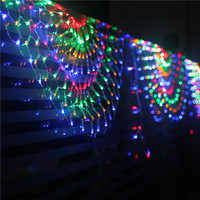 Large party layout holiday decoration lights LED lights string lights hotel decoration peacock net lights outdoor waterproof 3M
