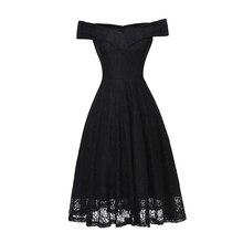LOVEBATU Brand Womens Summer White Lace Short Sleeve Princess Dresses