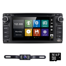 2din 6.2inch 800*480 Car DVD player GPS+BT+Radio+Touch Screen+car pc+aduio+Stereo+Video For Toyota Hilux VIOS Camry Corolla CAM