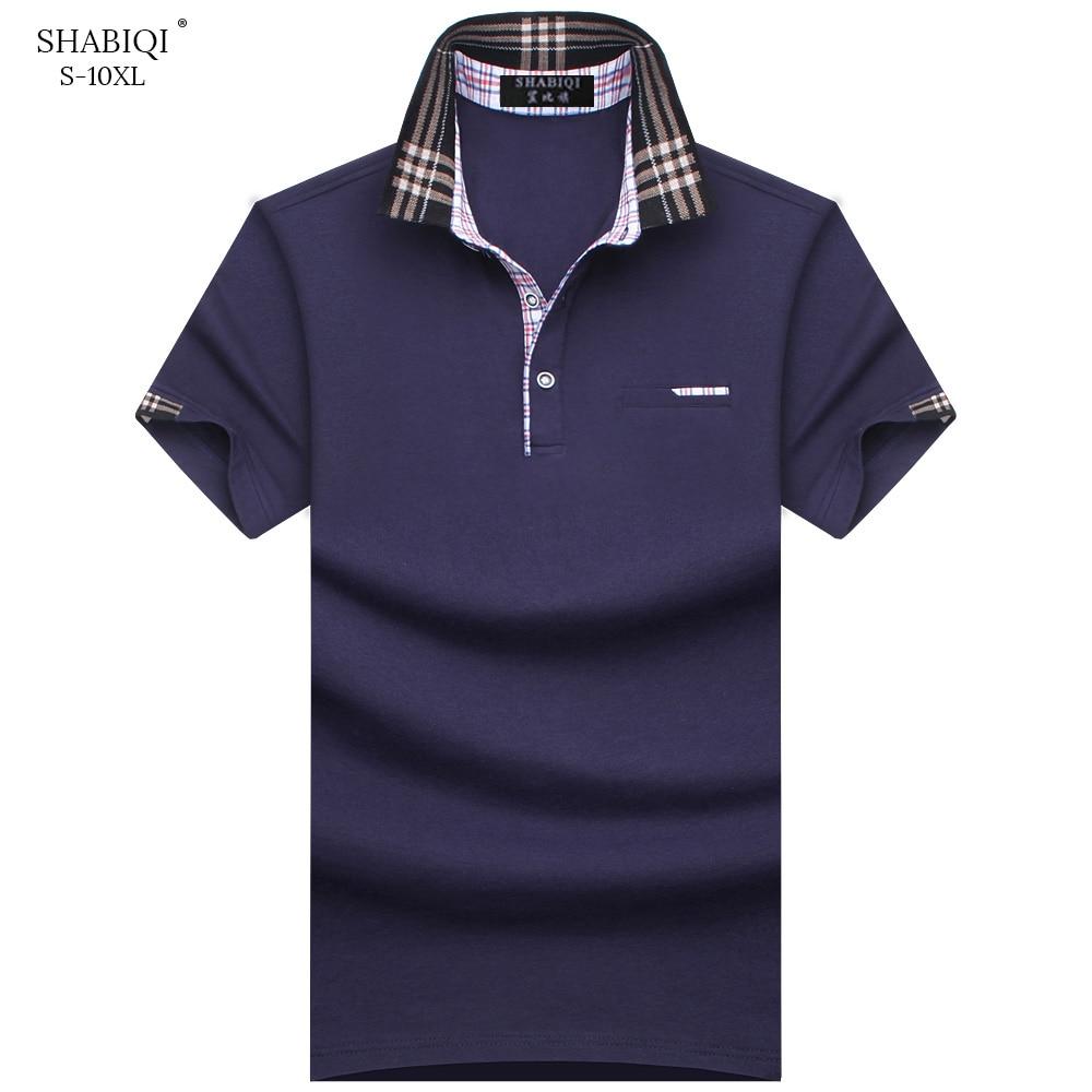 SHABIQI Brand clothing 2019 New Men   Polo   Shirt Men Cotton Casual   polo   shirt Men Short Sleeve breathable shirt Plus Size S-10XL