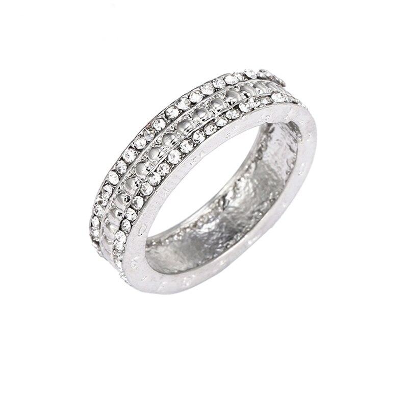 Горячая Распродажа серебряных колец с бантиком для женщин и девушек, сверкающий циркон, подходящие для тонких колец, свадебные ювелирные изделия, Прямая поставка - Цвет основного камня: N48