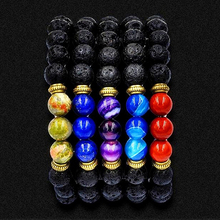 2016 Men's Women's Elastic Rope 8mm Beaded Wrist Bracelet Jewelry Charms Crafts