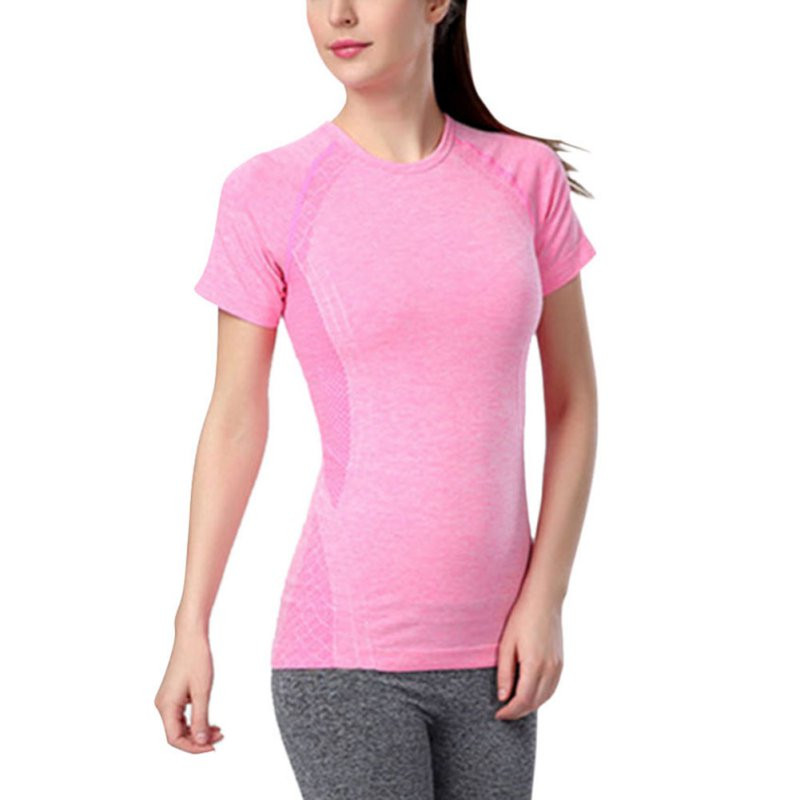 womens sport running short sleeve t-shirts Gym compression tights fitness women clothes Tops