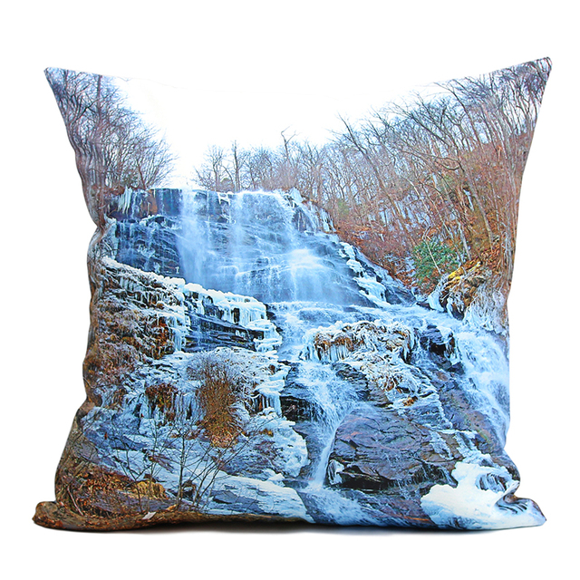 High Quality 40 40cm Pillow Cushion Cover Winter Waterfall Throw Extraordinary Winter Throw Pillow Covers