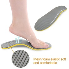 New 1 Pair Sports Shoes Insoles Orthotic Flat Foot Arch Supp