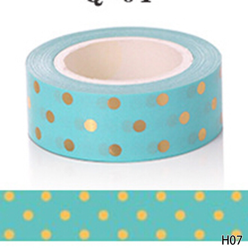 New !10m Gold Foil Washi Tape Adhesive Scrapbooking Tools Christmas Party Kawaii Photo Album MaskingTape decoration Paper Crafts new foil washi tape point dot set adhesive kawaii scrapbooking tools for photo album cute decorative christmas gift paper crafts