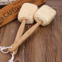 Massage Sponge Scrubber Natural Sisal Bath Shower Brush Portable Body