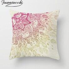 Fuwatacchi Mandala Decoration Cushion Cover Pillow Blue Pink Geometric Floral Print Home Decorative Pillows