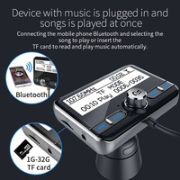 fm tf FM Transmitter Bluetooth U Disk TF DAB receiver Wireless Handsfree Car Kit With LCD Display Supports DAB  QC3.0&1A USB Cargador (4)