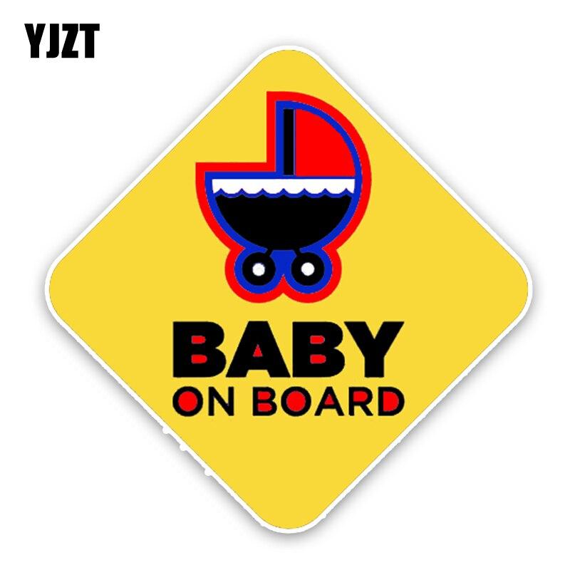 Yjzt 14.2*14.2 см автомобиля Стикеры Предупреждение знак Цветной мото наклейки мультфильм детские на борту украшения c1-5605