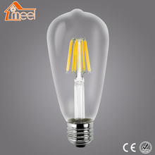 Retro Antique Edison Bulb Dimmable Led E27 LED Filament Glass Light Lamp 220V 240V 2W 4W 6W 8W Vintage Led Bulb ST64(China)