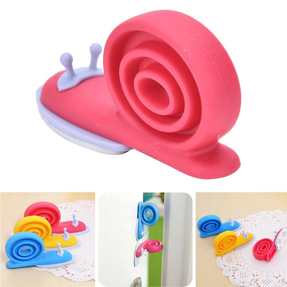 1PCS Kawaii Cute EVA Plastic Baby Safety Door Stopper Protector For Baby Care Kid Safe Snail Shape Door Stops Random