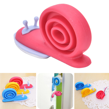 1PCS Kawaii Cute EVA Plastic Baby Safety Door Stopper Protector For Baby Care Kid Safe Snail Shape Door Stops Random
