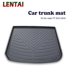 EALEN 1PC rear trunk Cargo mat For Audi TT 2012 2013 2014 2015 2016 2017 2018 Styling Boot Liner Tray Anti-slip mat Accessories for lada largus 2012 2018 trunk mat floor rugs non slip polyurethane dirt protection interior trunk car styling