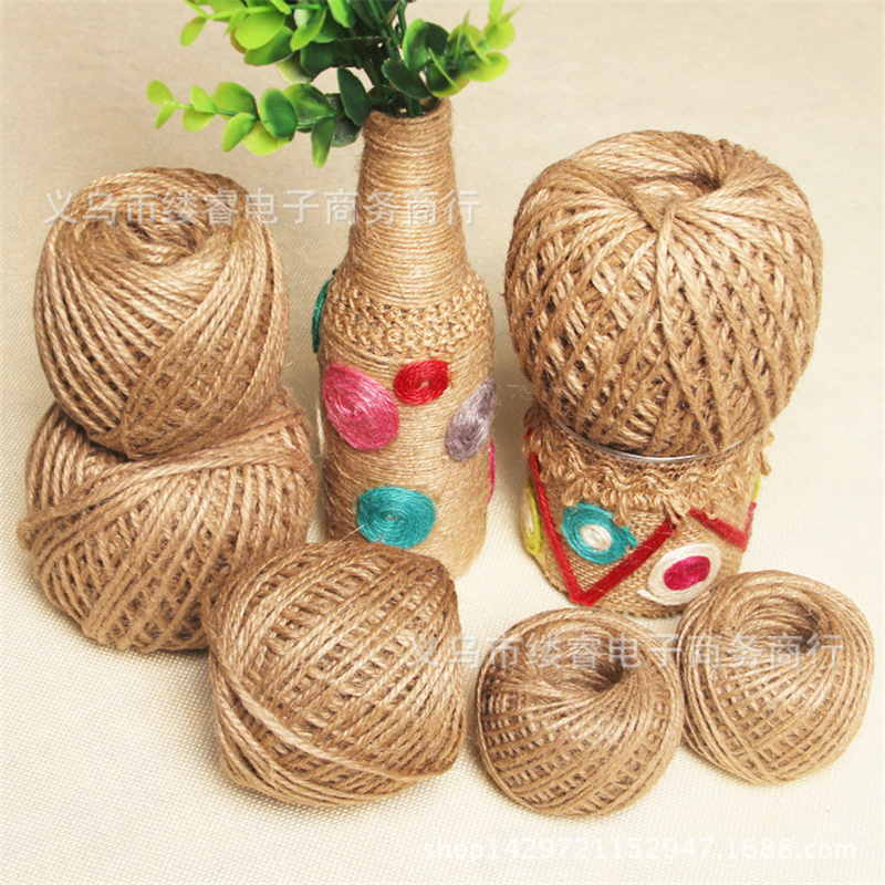 1PCS/LOT 2mm Natural Jute Twine Cord DIY/Decorative Handmade Accessory Hemp Jute Rope for Paper Crafting Diy Packing Box Line.T