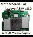 100% calidad original desmontar la placa base para lenovo a830 wcdma tarjeta principal con chip de la placa lógica motherboard