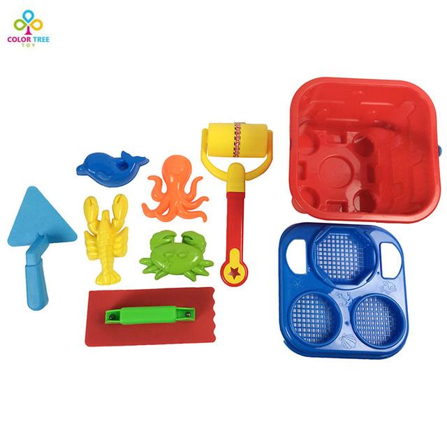Brinquedos da praia da Areia Conjunto Com Malha Saco de Jogo para Crianças Cor Aleatória