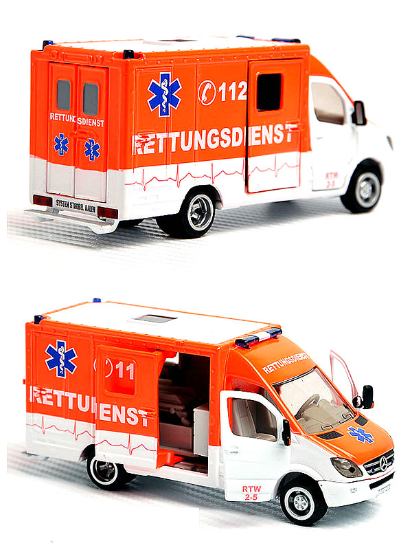 Siku 1 50 Diecast Toy Car Model Ambulance Van