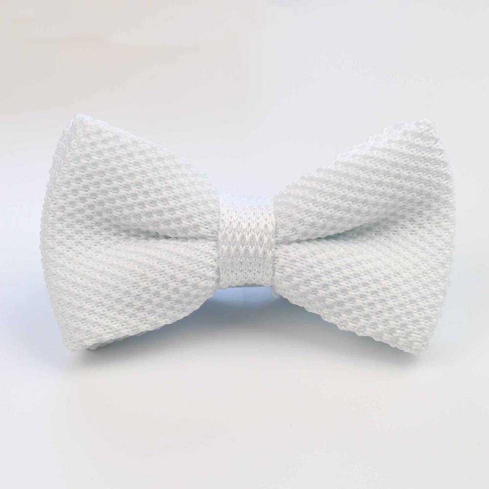 Мужские галстуки для шеи, смокинг, вязаная бабочка, Одноцветный галстук-бабочка, толстый двухслойный предварительно завязанный Регулируемый вязаный Повседневный галстук - Цвет: 34