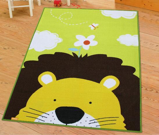 100x130 CM tapis pour salon belle tête de Lion enfants jouer tapis de noël cadeau pour bébé enfant tapis enfants chambre tapis pour enfants