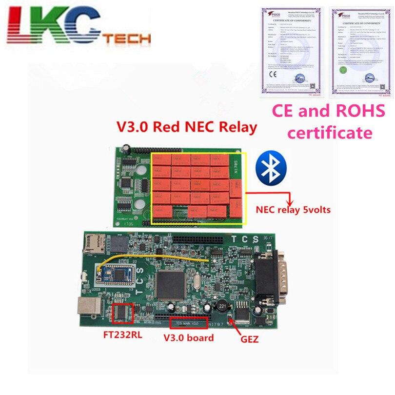 TCS CDP WOW CDP Multidiag pro Bluetooth 2016.00 keygen logiciel V3.0 NEC relais obd2 scanner voitures camions OBDII outil de diagnostic