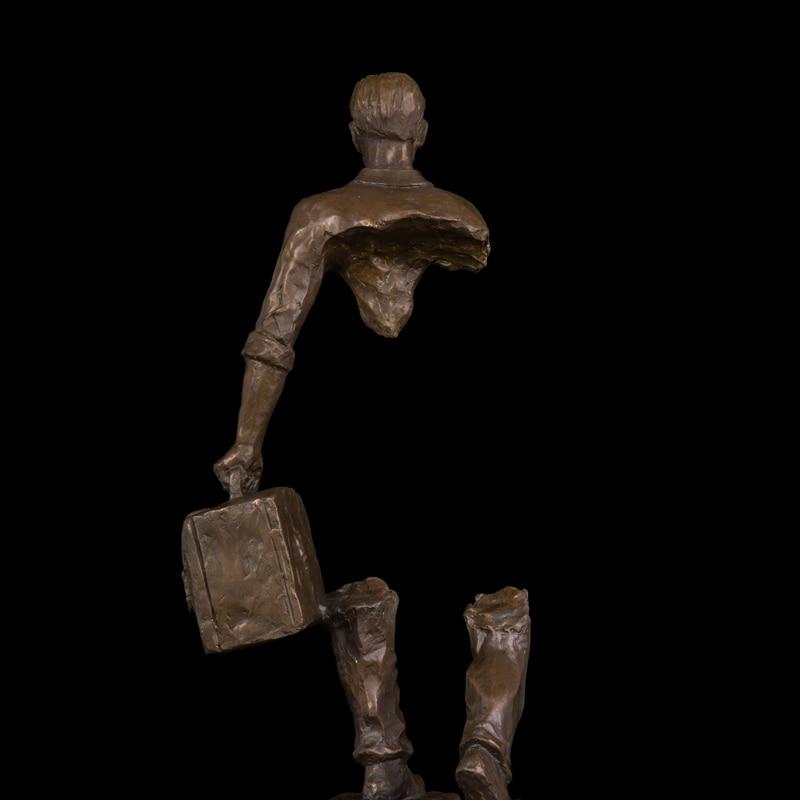 Estatuas de bronce de cobre Hombre abstracto Figura Figura de viajero - Decoración del hogar - foto 5