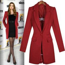 Black red blue green cashmere coats women's wool coat womens winter jackets and coats slim casual england outerwear S – 3XL